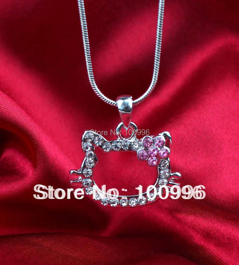 12pcs A lot Wholesale Hello Kitty Necklace Cheap Jewelry For Women Summer Style Clothes Accessories And Girl gift(China (Mainland))