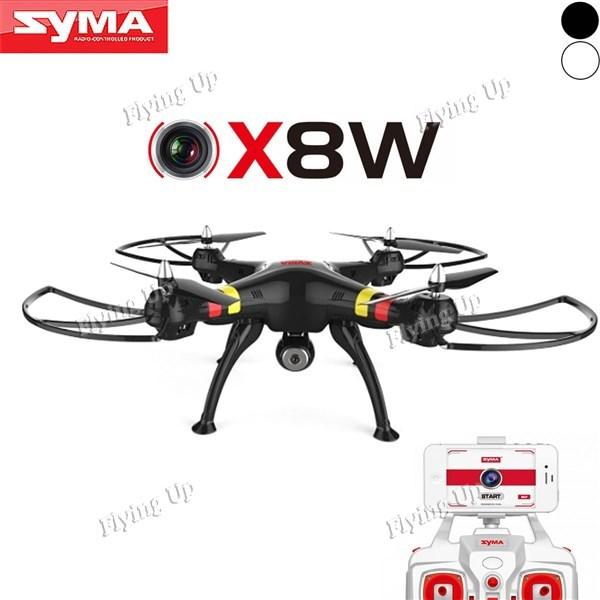 Wifi Quadcopter Syma X8W 6-axis 4CH 2.4GHz RC Quadcopter with Camera 2MP FPV Drones Headless Mode RTF Helicopter Free Shipping(China (Mainland))