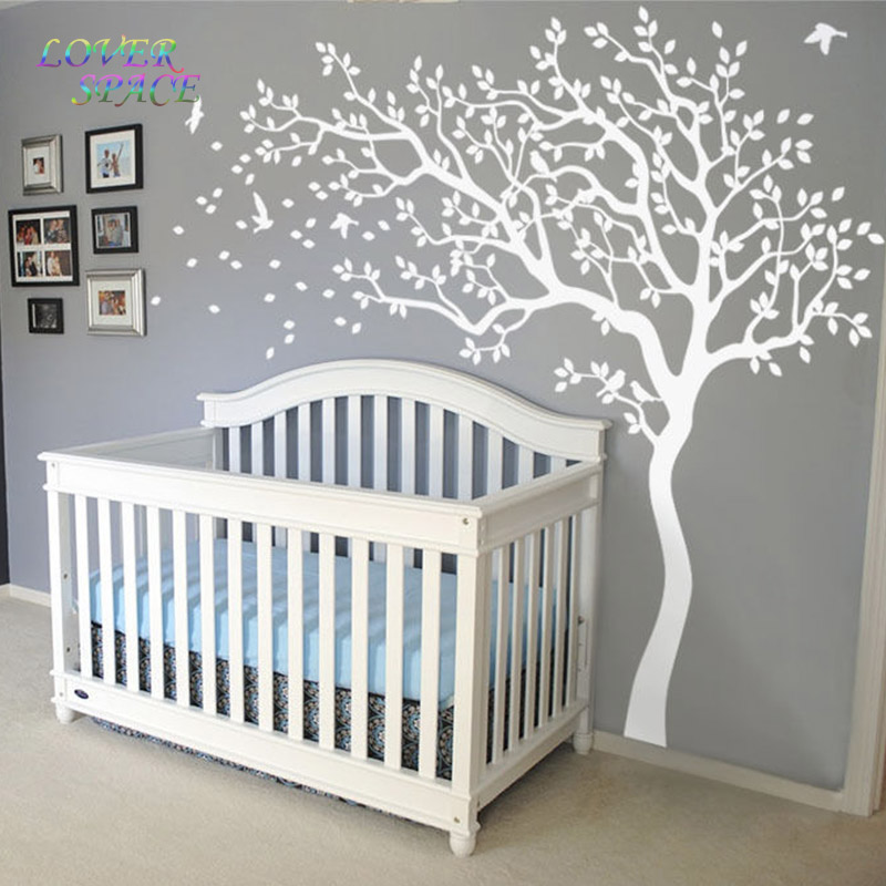 2016 hot huge white tree wall decal sticker wall decals huge modern family tree decorative wall sticker