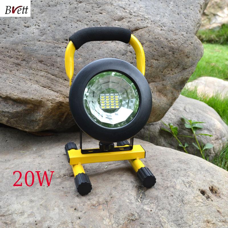 Здесь можно купить  20w led flood lighting rechargeable Led emergency lamp 3 colors Portable Spotlight battery powered led spot lamp with 18650  Свет и освещение
