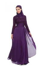 Line purple muslim long