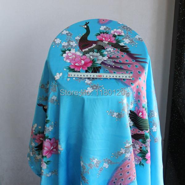 peacock design cheongsam imitation silk fabric upholstery wall satin spandex fabric cloth(China (Mainland))