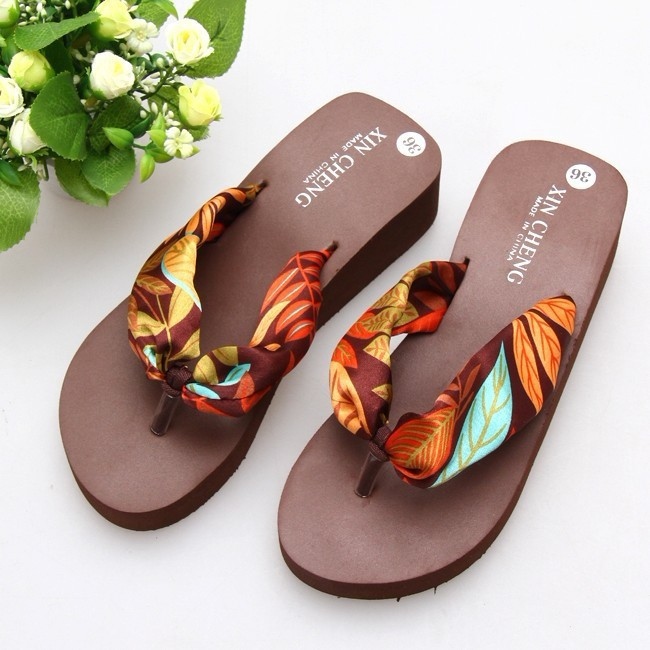 2015 summer fashion sexy flip flops sandal slippers flip platform bohemia beach Muffin Slope with female drag women sandals(China (Mainland))