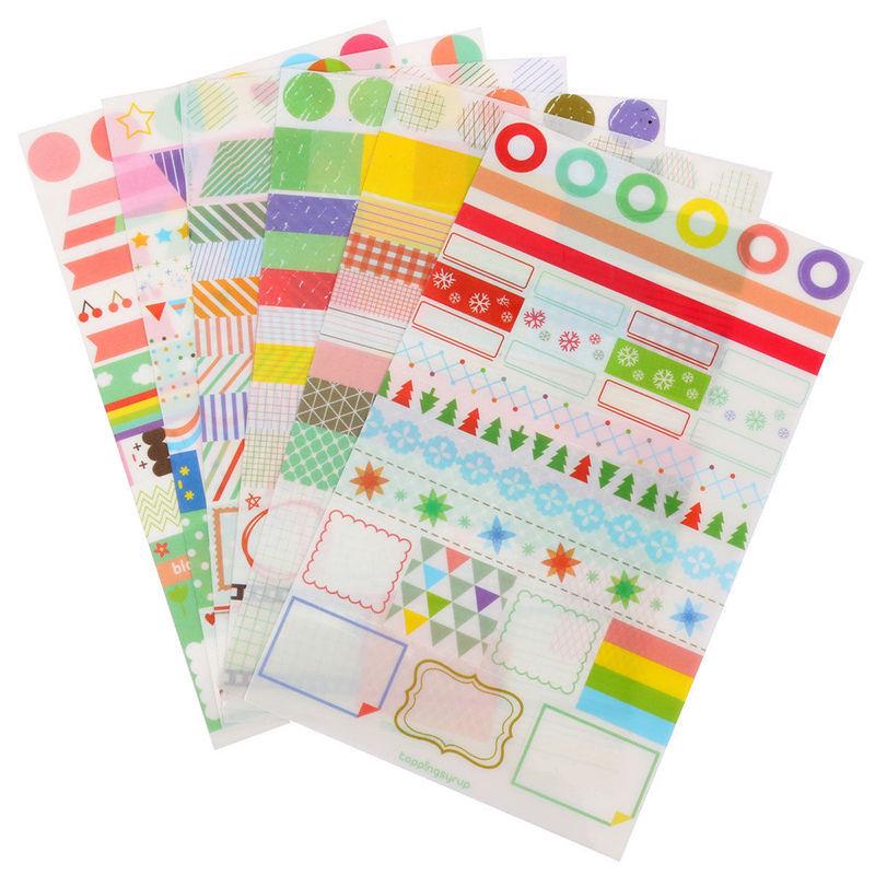Гаджет  6pcs/set  Calendar Paper Sticker Simple Life Scrapbook Calendar Diary Planner Decor None Игрушки и Хобби