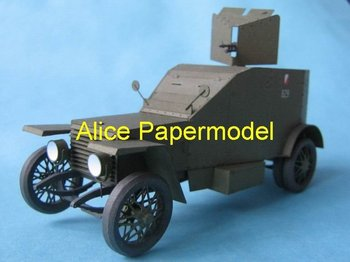[Alice papermodel] Long 20CM 1:25 Peugeot 1918 armed vehicle tank army models