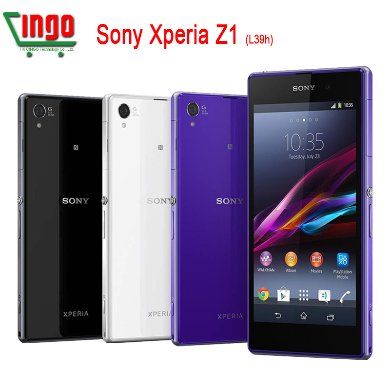 Original Sony Xperia Z1 L39H Unlocked Cell Phone16GB Quad-core 3G&4G GSM WIFI GPS 5.0'' 20.7MP Mobile Phone Free shipping(China (Mainland))