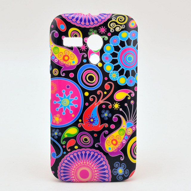 Fashion Chinese flower owl USA UK flag soft tpu silicon case cover for Motorola Moto G gphone XT1032 with screen film(China (Mainland))