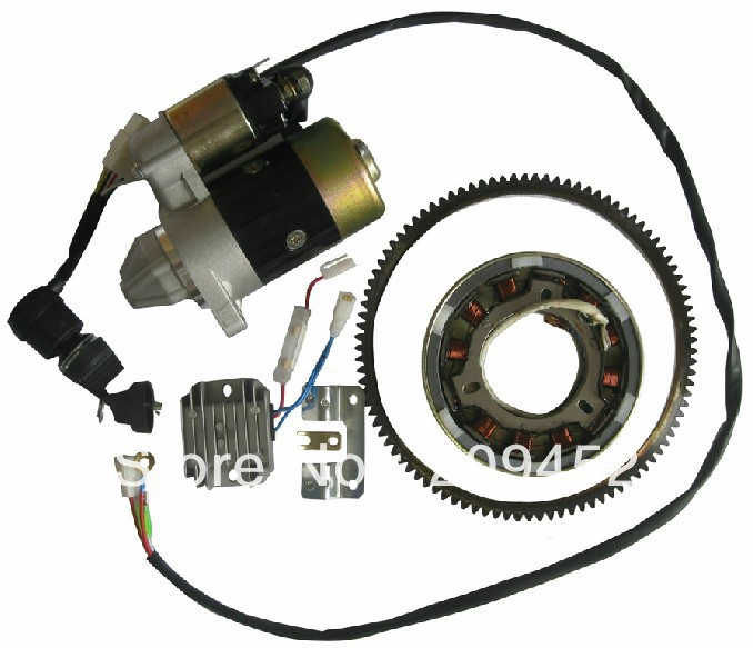 Yamaha Electric Motor Kit: Electric Start Accessory Kit For 186F 9hp Diesel Engine