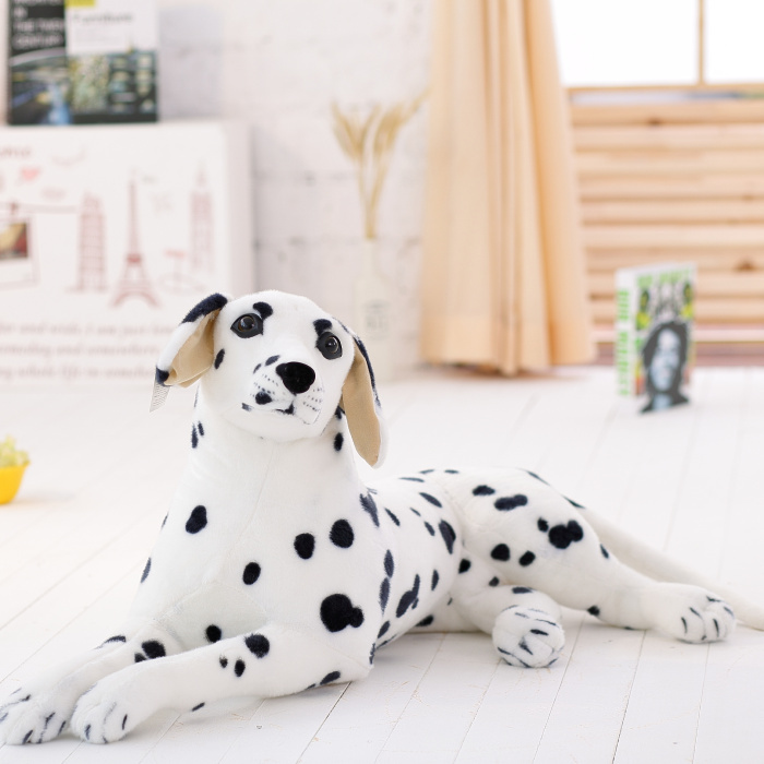 50cm Emulational Toy Plush Stuffed White dog dalmatians Lying Posture Artificial Animal 1pcs<br><br>Aliexpress