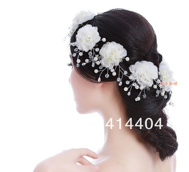 6pcsset free shipping crystal hairclip wedding bride