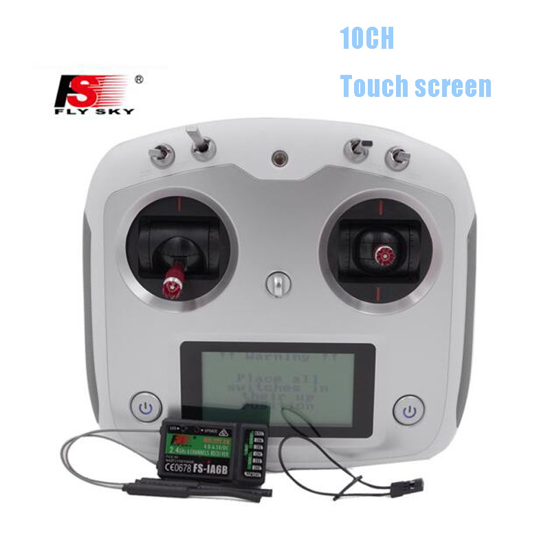 Flysky FS-I6 Upgraded 2.4G FS-i6s 10ch touch screen RC Transmitter FS iA6B Receiver For RC QAV250 DIY heli drone quadcaopter(China (Mainland))