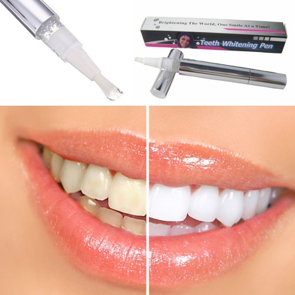 Free Shipping Popular White Teeth Whitening Pen Tooth Gel Whitener Bleach Remove Stains oral hygiene HOT SALE(China (Mainland))