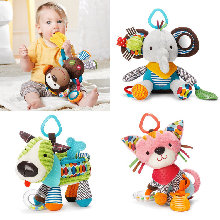 Free shipping birthday gift animal Soft puzzle toys baby toys(China (Mainland))