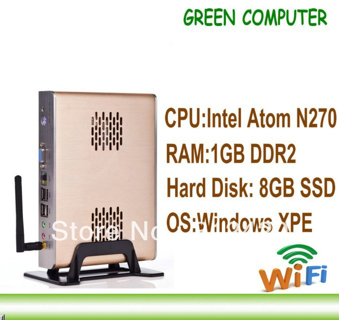 2013 Newest Fanless Mini Computer Thin Client Network Terminal FOX-270SW with Intel N270 CPU 1GB RAM Win XPE embedded(China (Mainland))