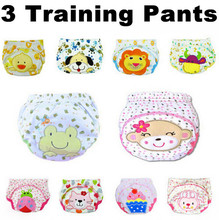 3 pcs lot Baby Underwear Newborn Cloth Diaper Nappy Cover Reusable Washable Training Urine Pants Nappies