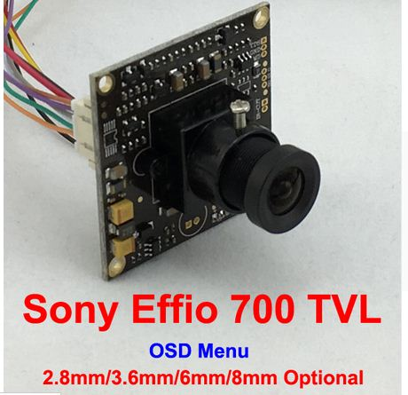 "1/3"" Sony Effio-e 4140+811 700TVL 2.8mm Lens Wide View CCD CCTV Camera Board With OSD Menu Chipboard for Security Camera(China (Mainland))"
