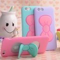 Lovely 3D Butterfly Bow Stand Holder Soft Silicone Rubber Mobile Phone Cases Cover For iPhone 5