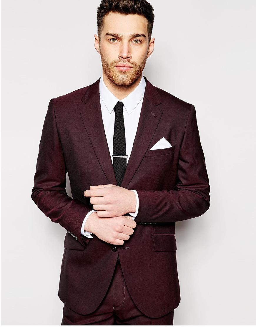 Popular Mens Burgundy Suit Buy Cheap Mens Burgundy Suit