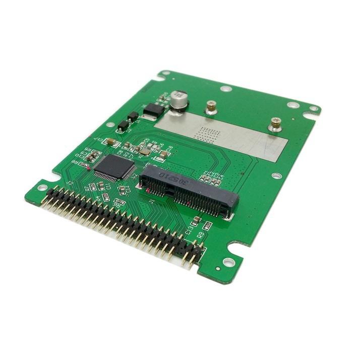 CY White Color mSATA mini PCI-E SATA SSD to 2.5 inch IDE 44pin Notebook Laptop hard disk case Enclosure(China (Mainland))