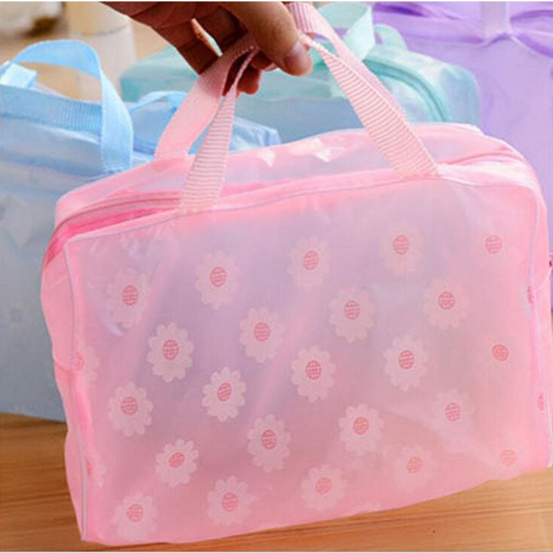 Travel deluxe toiletry bag wash bags makeup organizer pouch women transparent PVC cosmetic bags bulk organizer storage case(China (Mainland))