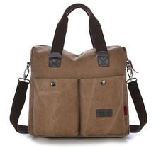 Fashion Vogue Casual Canvas Pattern Brand Denim Men Messenger Bag Briefcase Versatile Business Male Vintage Men's 2015 New