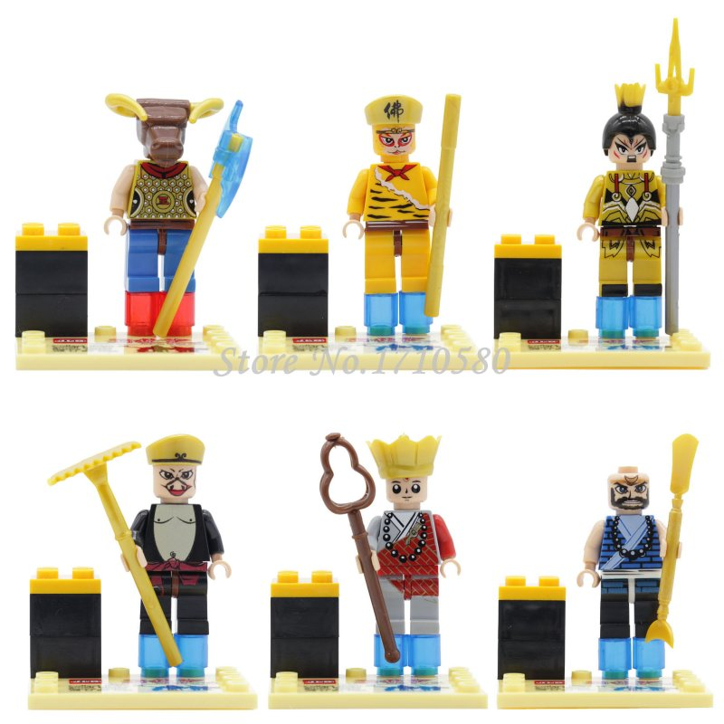 Story of a Journey to the West Minifigures Sun Wukong Tang Seng JLB 10901-06 Building Block Model Sets Bricks Toys For Children