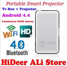 2016 Newest Original Smart Mini Projector Portable Wifi Project DLNA Android OS 1GB Rom 8GB ROM built in 4200mAh Battery Speaker