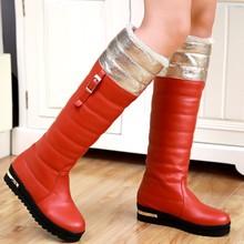ENMAYER mujeres de la Manera rodilla Botas Altas Sobre La Rodilla Botas de Tamaño 34-39 de Piel de Invierno Botas de Nieve Zapatos para las mujeres Del Envío Gratis(China (Mainland))