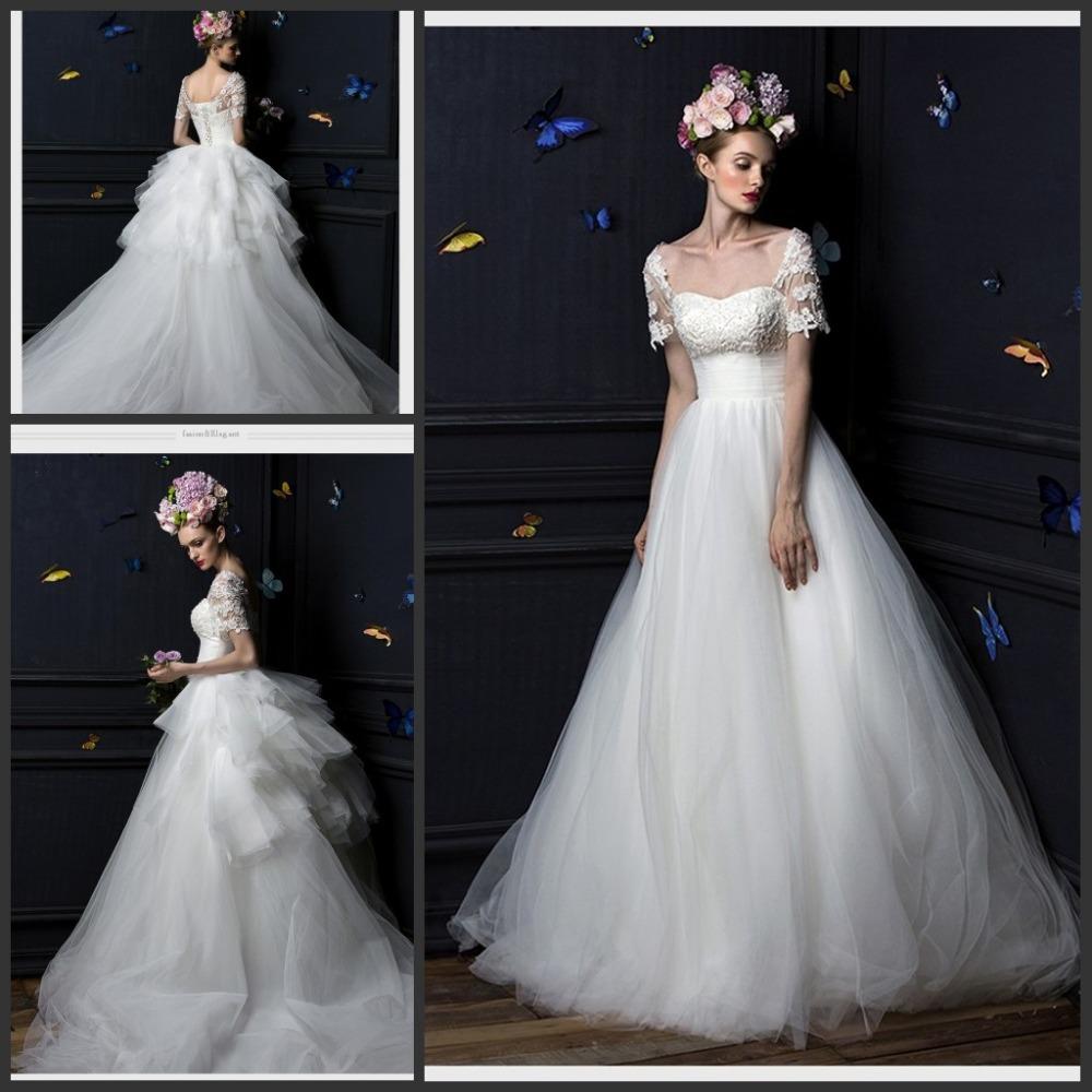 Buy 2015 fairy vestidos wedding dresses for Empire waist tulle wedding dress