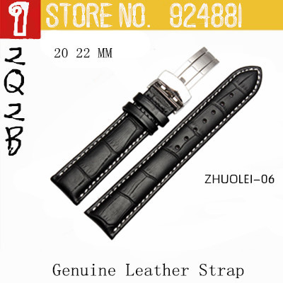 2014 New Silver Buckle Watchband,White Stitching,20 22mm,4 Styles to Choose,Zhuolei Brand,Free Shipping<br><br>Aliexpress