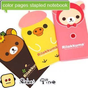 Relax bear shape / color pages stapled notebook