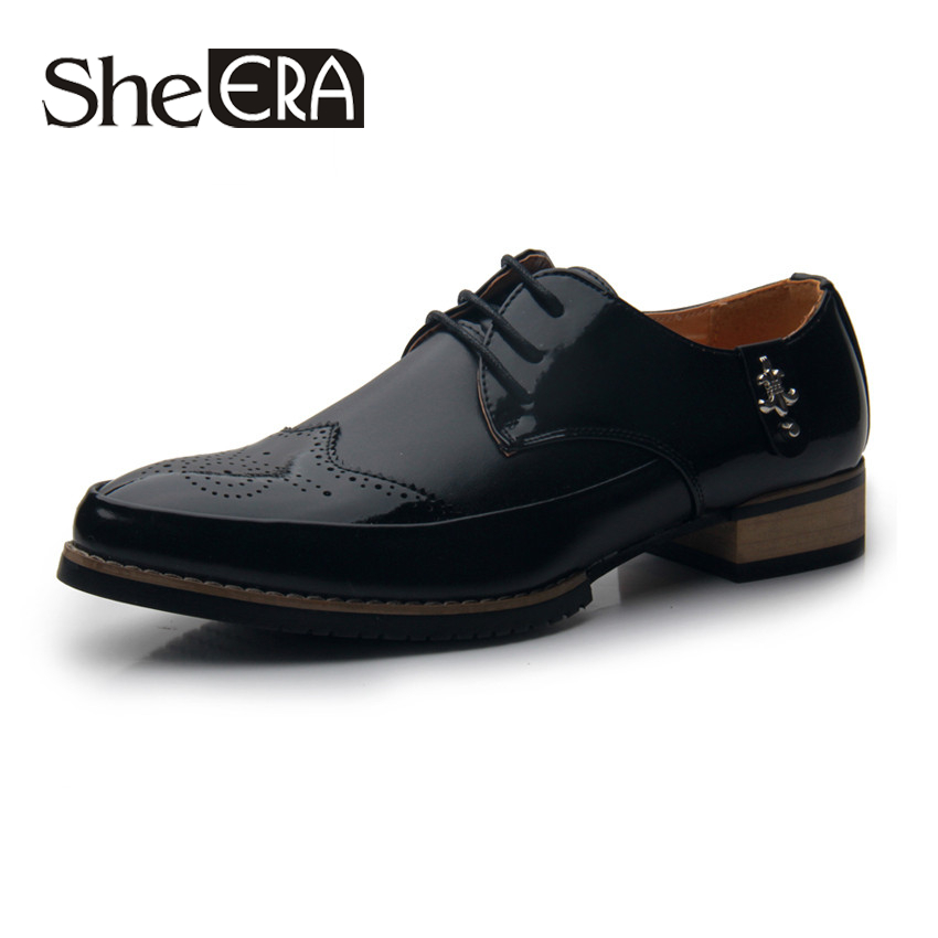 Buy New British Style Men 39 S Flat Shoes Fashion Breathable Leather Shoes Men