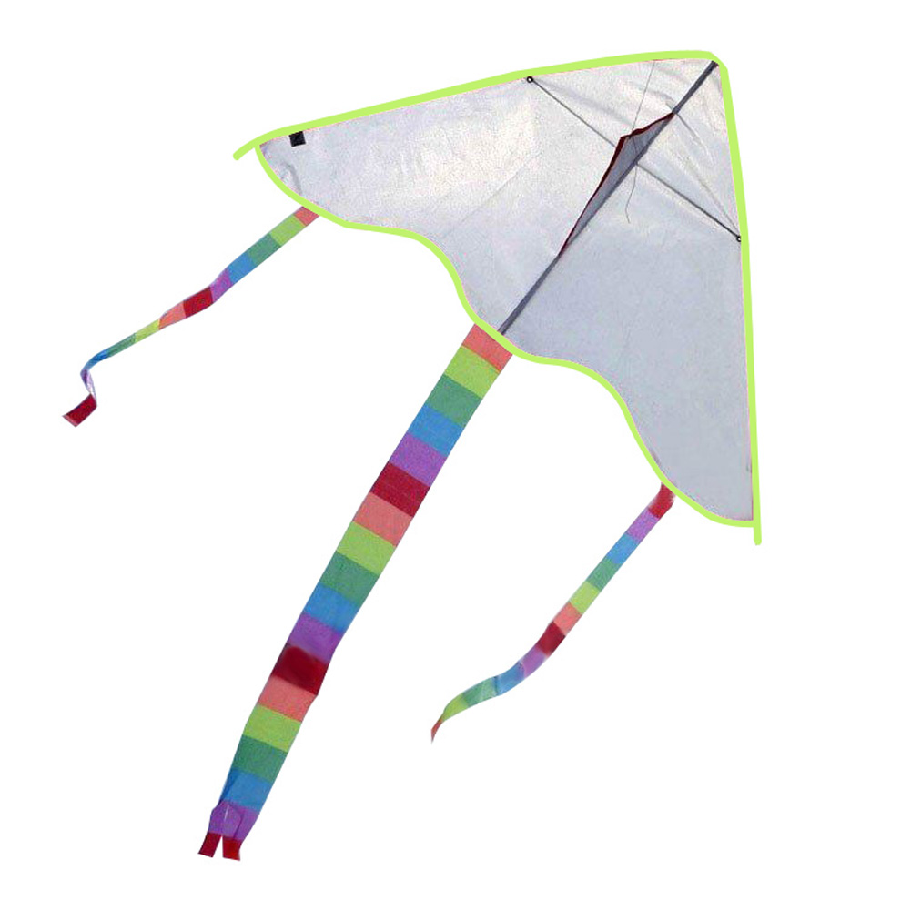 New Diy Kite Painting Kite without Handle Line Outdoor Toys Flying Papalote Toy Triangle Kite Fly a Kite Nylon Ripstop Fabric(China (Mainland))