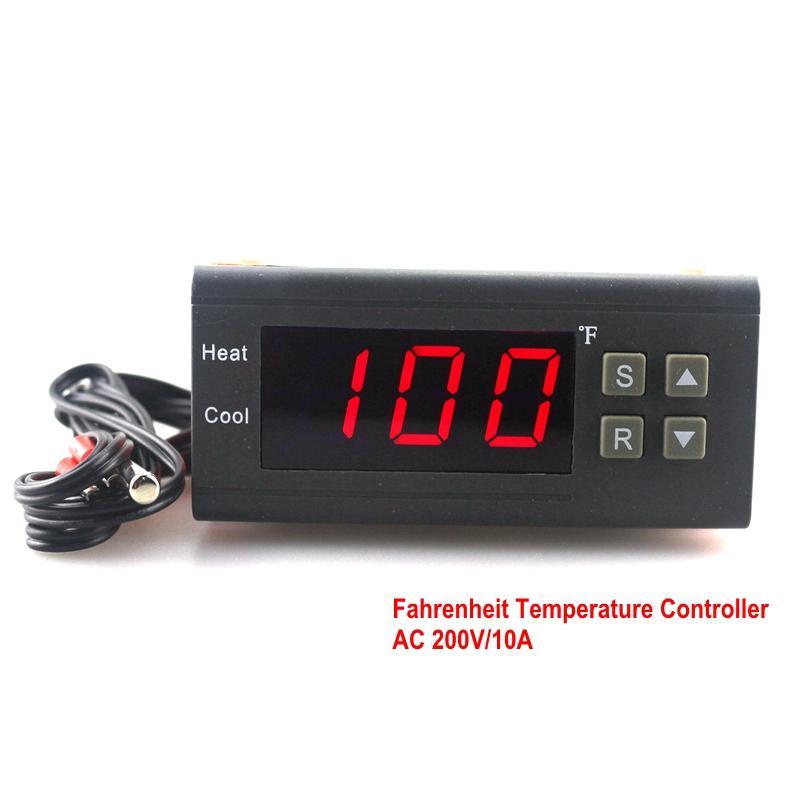 220V 10A Digital Fahrenheit Temperature Controller Thermostat Regulator Thermocouple -58~194 Fahrenheit Free Shipping(China (Mainland))