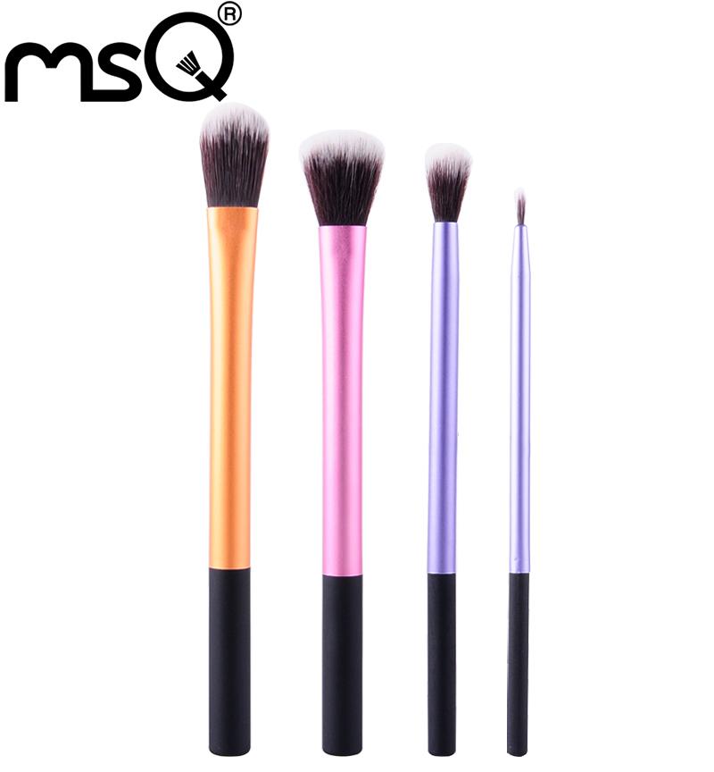 5sets/lot MSQ Travel Make Up Brush High Quality synthestic Brush Comestic Brush 4pcs Makeup Brush Tool Set With a PVC Bag<br><br>Aliexpress
