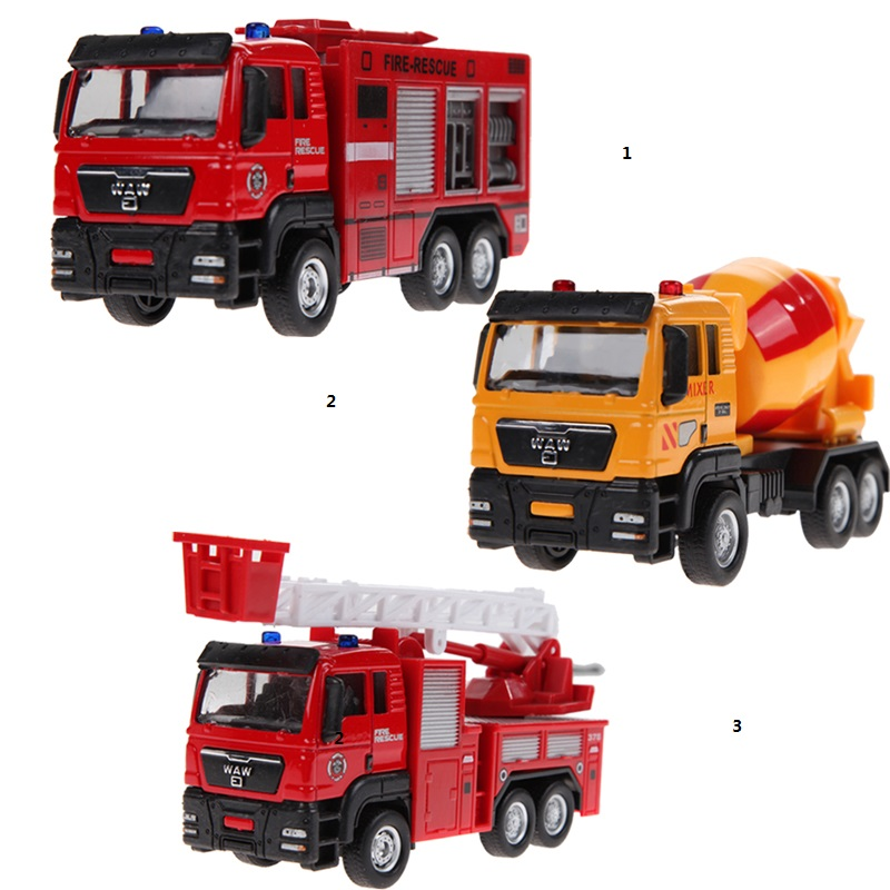 New Arrrival 1:55 Sliding Alloy Car Truck Model Children Toys Fire Engine, Children's Educational Toys FCI#(China (Mainland))