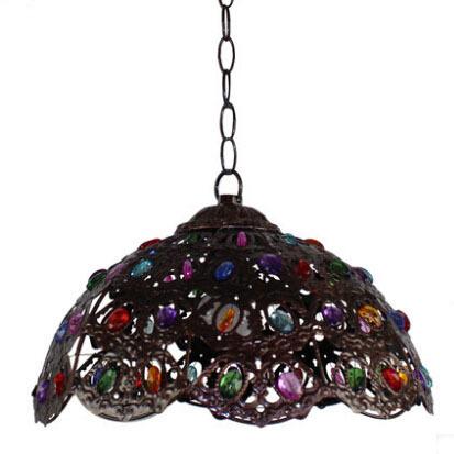 American Village bar chandelier minimalist art wrought iron living room bedroom dining chandelier lightings