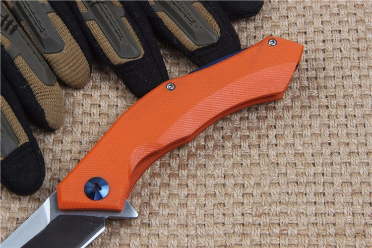 Buy New Tactical Folding Knife D2 Blade G10 Handle Outdoor Survival Camp hunt utility Knife Folding Pocket Knives EDC Hand Tools cheap