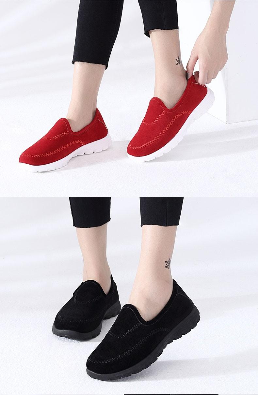 Winter Women Casual Doug Shoes plus Velvet Flat shoes Sweet Candy color