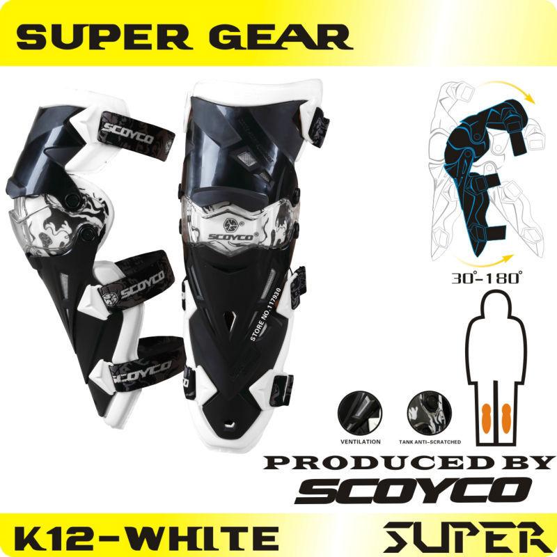 Protective motorcycle kneepad Original Scoyco K12 CE Approval Motorcycle Knee Protector&Motocross Racing Knee Guards MX Knee Pad()