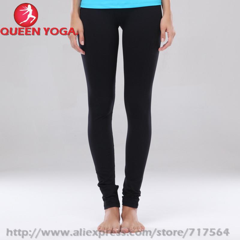 NWT- 2015 QUEEN yoga fitness black long Pant,Discount slim Clothing/Sport Pant/legging Women,plus size 2-12 - Lulu le mon Yoga Clothing No. 1 Store store