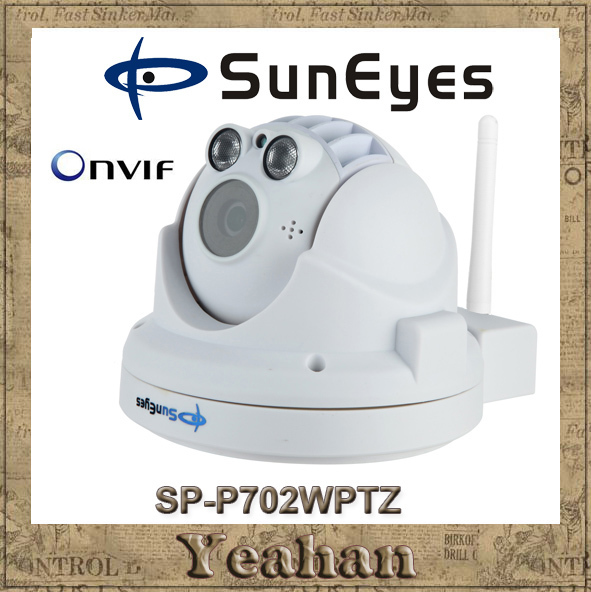 SunEyes SP-P702WPTZ 720P HD Wifi Wireless Dome IP Camera PTZ ONVIF Pan/Tilt/Zoom with Micro SD Slot Two Way Audio Port Array IR(China (Mainland))