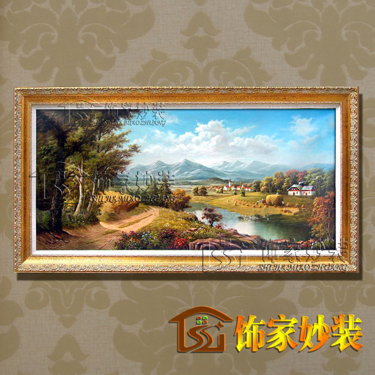 Classical landscape large wall pictures for living room wall art modern paintings home for Landscape paintings for living room