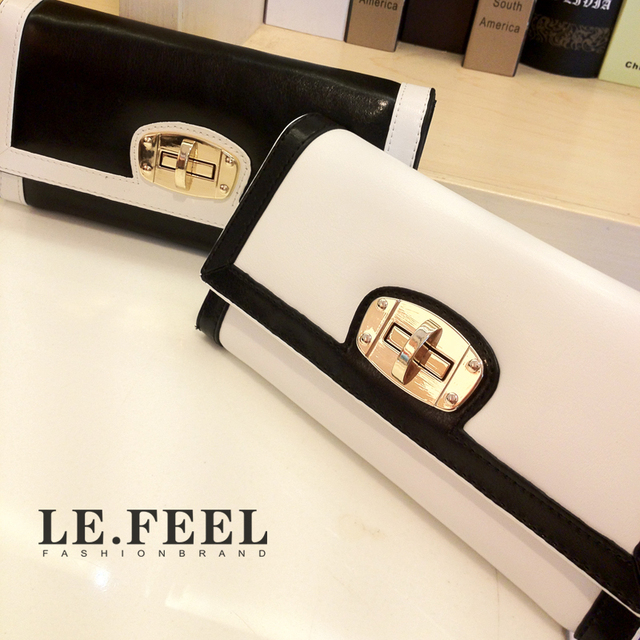 High quality new arrival bags fashion elegant fashion color block women's wallet