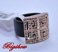 HOT 18 k rose Gold Plated Jewelry Fashion Ring with Austrian Crystals for Women