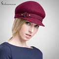 Visor 100 Wool From Australian Fashion Peaked Cap For Women With Buckle Hat Winter Visors FW137003