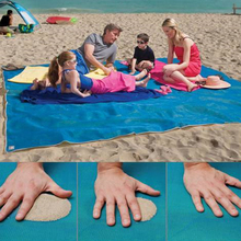 Fast Free shipping Portable Sand Free Beach Mat Beach Blanket  Quick Sand Mat For Outdoor leisure Camping Picnic Blue Color(China (Mainland))