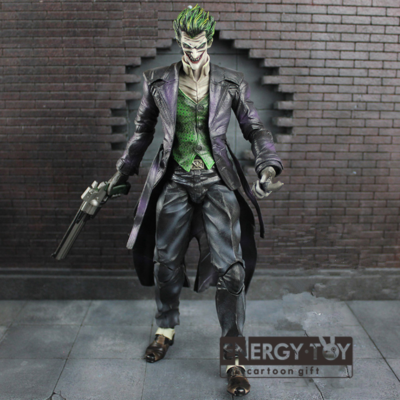 Movie PLAY ARTS KAI Batman arkham origins The Joker 26cm cool PVC Action Figure Collectible Model Toy doll in box(China (Mainland))