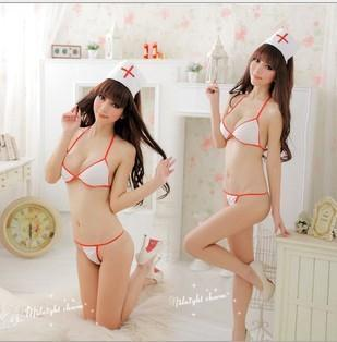 Costumes Women Sexy Sexiest Lingerie Female Nurse Outfit Sexy Bikini Perspective Three Uniform Temptation The Nurse Role Play(China (Mainland))