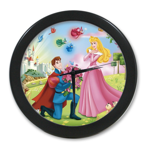 Hot Sales <font><b>Home</b></font> <font><b>Decoration</b></font> Customized Classic Cartoon Princess Sleeping Beauty <font><b>Elegant</b></font> Wall Clock Modern Design Watch Wall Free S